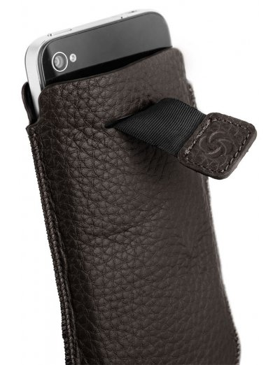 Brown case for a phone made of Full leather M Slim Classic leather - Phone cases