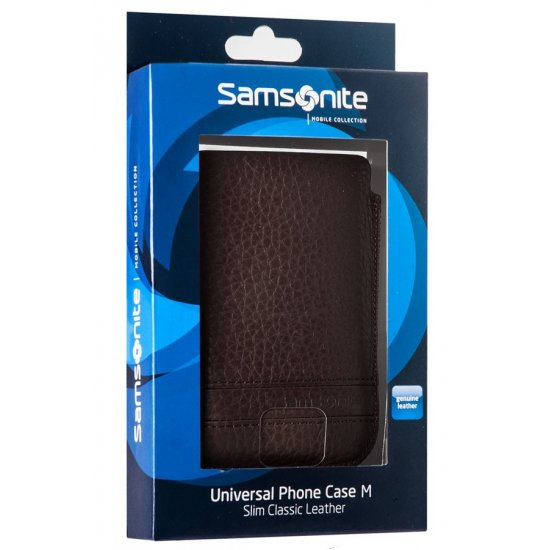 Brown case for a phone made of Full leather M Slim Classic leather