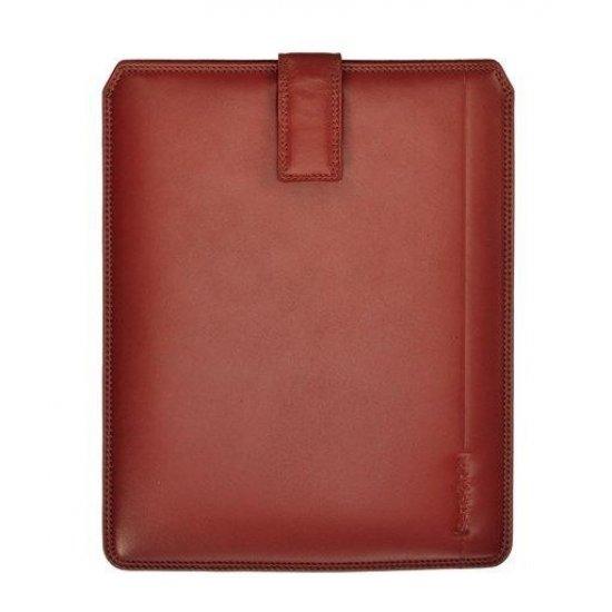 Mahagony iPad case, full leather
