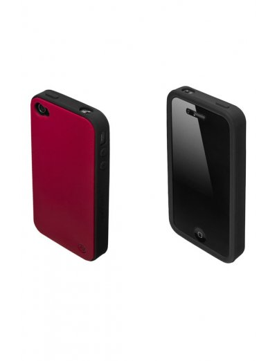 Mobile phone case iLuminor in classical elegant burgundy color - Outlet section
