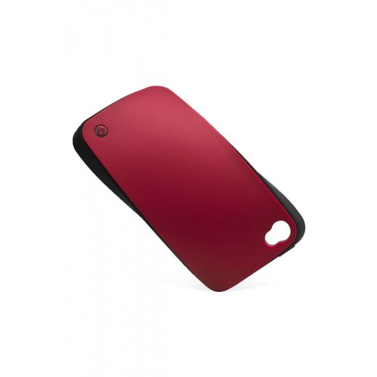 Mobile phone case iLuminor in classical elegant burgundy color