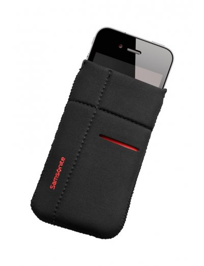 Mobile phone case Airglow, size M, Black with red welt - Outlet section
