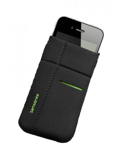 Mobile phone case Airglow, size M, Black with green welt - Product Comparison