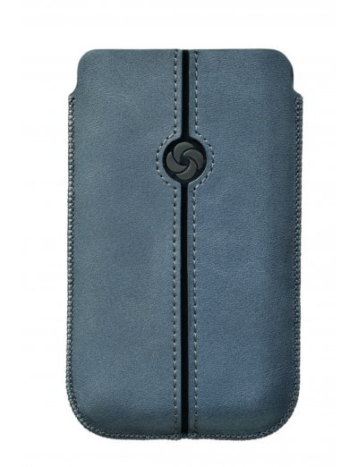 Blue case iPhone 5 made of Full leather Dezir Swirl - Phone cases