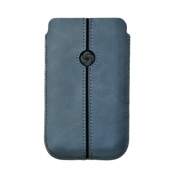 Blue case iPhone 5 made of Full leather Dezir Swirl