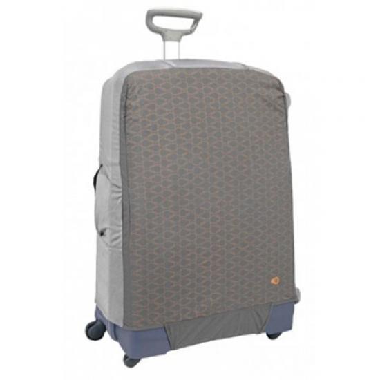 Калъф за съхранение на куфар, размер L - за големи куфари с височина 75 - 85 см цвят сив на фигурки