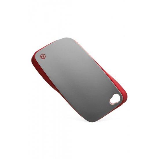 Mobile phone case iLuminor in classical elegant gray colors
