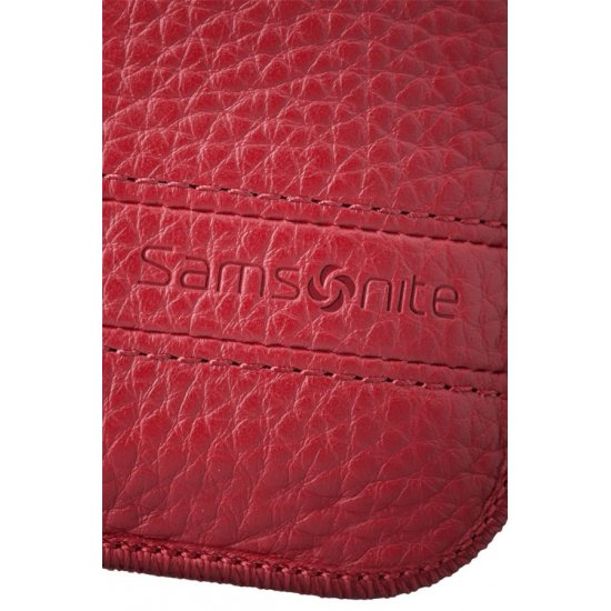 Red case for a phone made of Full leather L Slim Classic leather