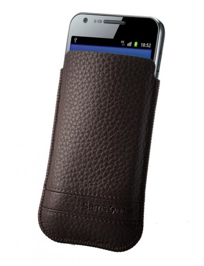 Brown case for a phone made of Full leather L Slim Classic leather - Phone cases