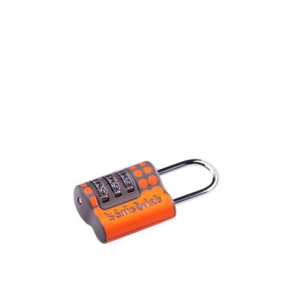 Kатинарче за багаж с троен шифър на оранжеви точки
