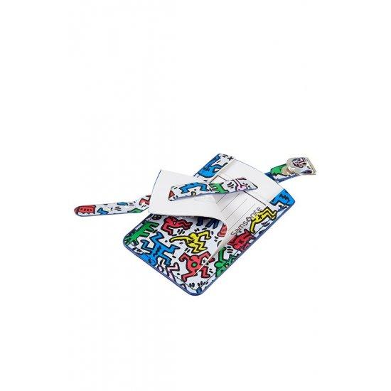 Set of 2 Rectangular Keith Haring Luggage Tags