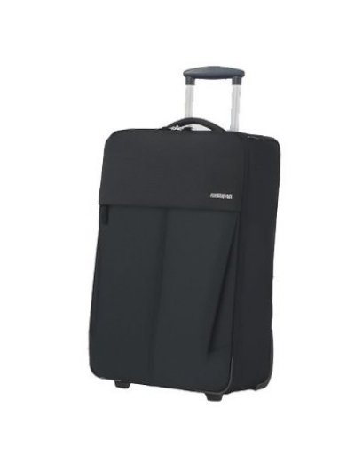 Upright on 2 wheels Genoa M black color - Softside suitcases