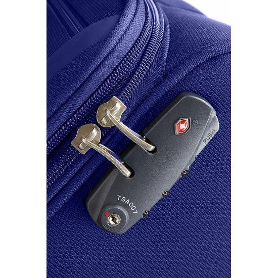 Куфар за ръчен багаж на 2 колела All Direxions 55см с разширение в син цвят