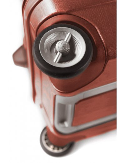 Куфар на 2 колела Cubelite 54 см тъмно червен цвят - Hand luggage/cabin