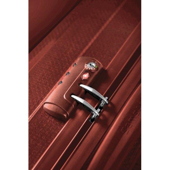 Куфар на 2 колела Cubelite 54 см тъмно червен цвят