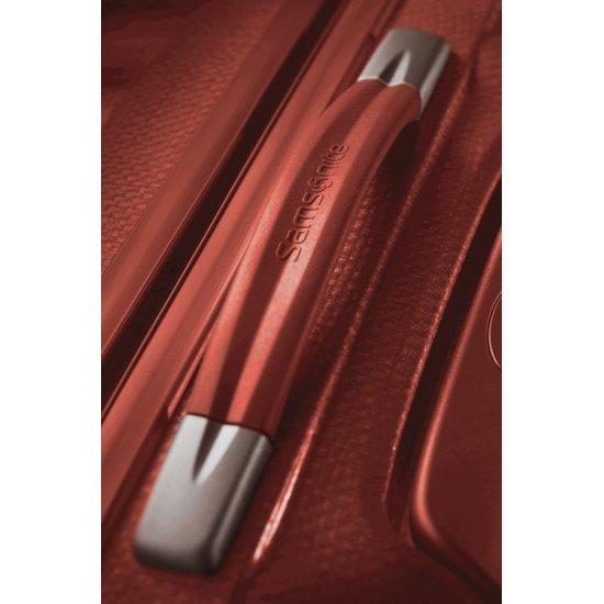 Куфар на 4 колела Cubelite 55 см тъмно червен цвят