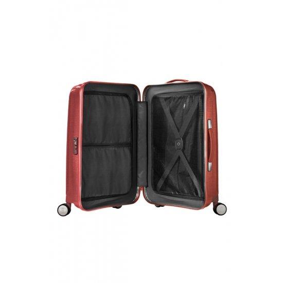 Куфар на 4 колела Cubelite 76 см тъмно червен цвят