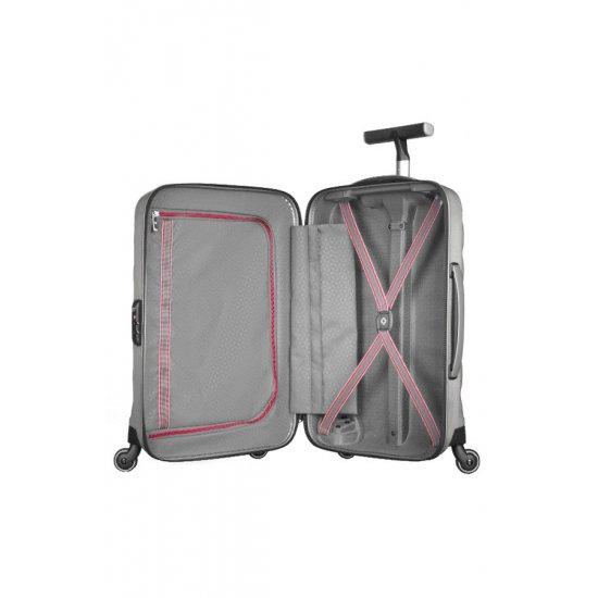 Куфар на 4 колела Firelite 55 см бял цвят