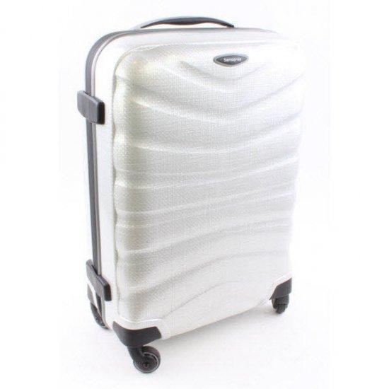Куфар на 4 колела Firelite 75 см бял цвят
