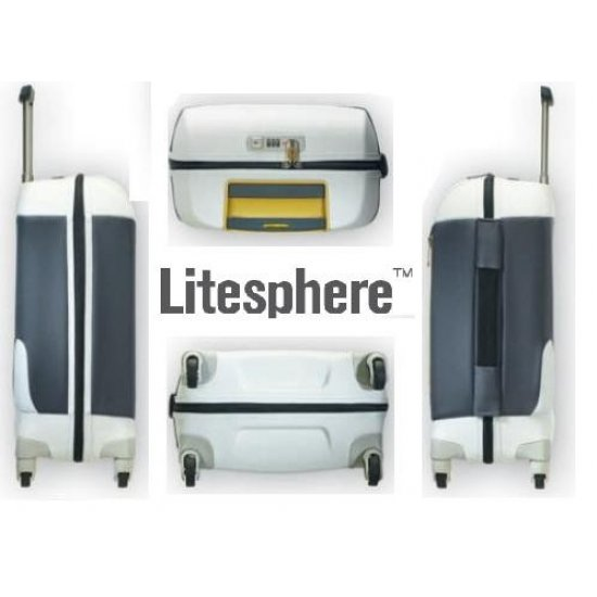 Spinner on 4 wheels Litesphere 55 cm. silver/titan color