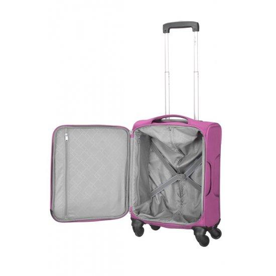 Куфар на 4 колела Suspension 55 см розов цвят