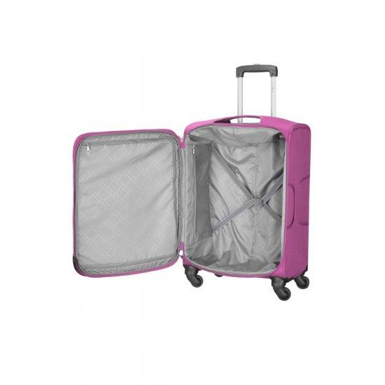 Куфар на 4 колела Suspension 79 см розов цвят