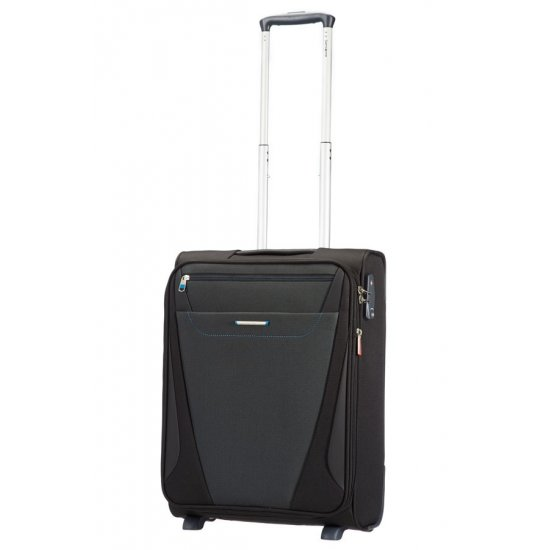 Куфар за ръчен багаж на 2 колела All Direxions 55см с разширение в черен цвят
