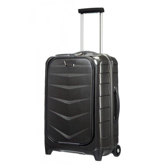Куфар за ръчен багаж на 2 колела Lite-Biz 55 см, черен цвят