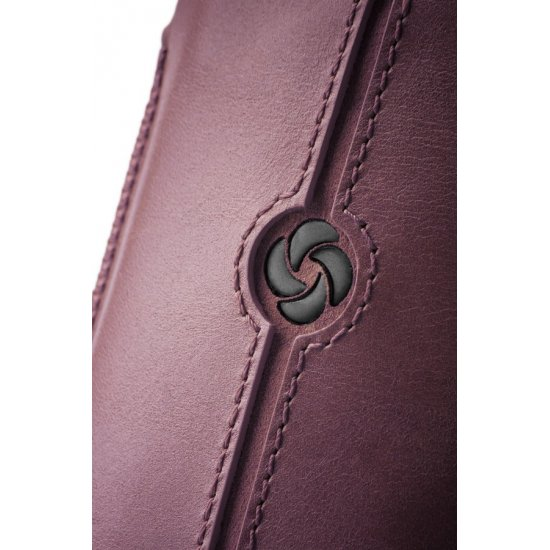 Purple case iPhone 5 made of Full leather size L Dezir Swirl
