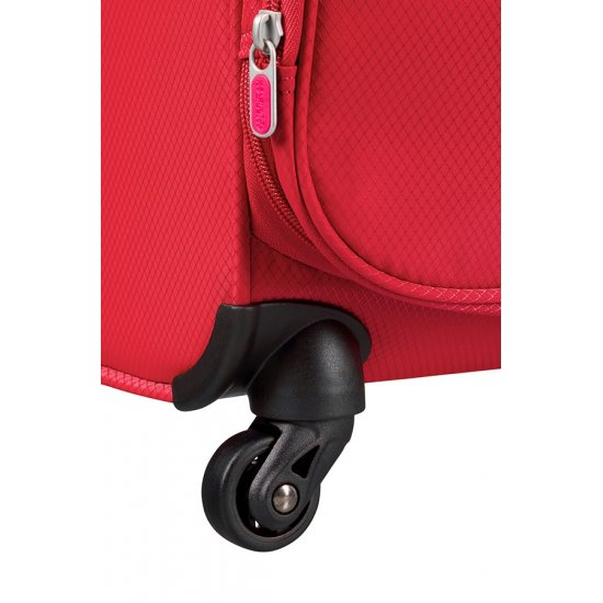 Litewing 4-wheel Spinner suitcase 35cm width Exp. Formula Red