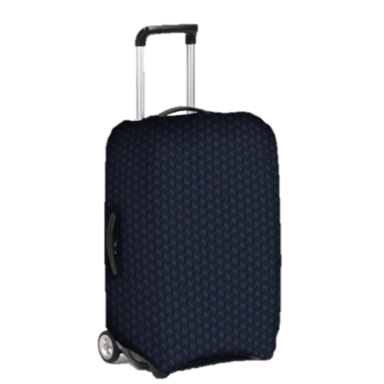 Luggage cover L Blue Jacquard