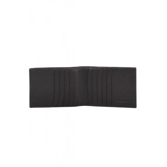 Black Men's Wallet, Full Leather,  F15.09.008