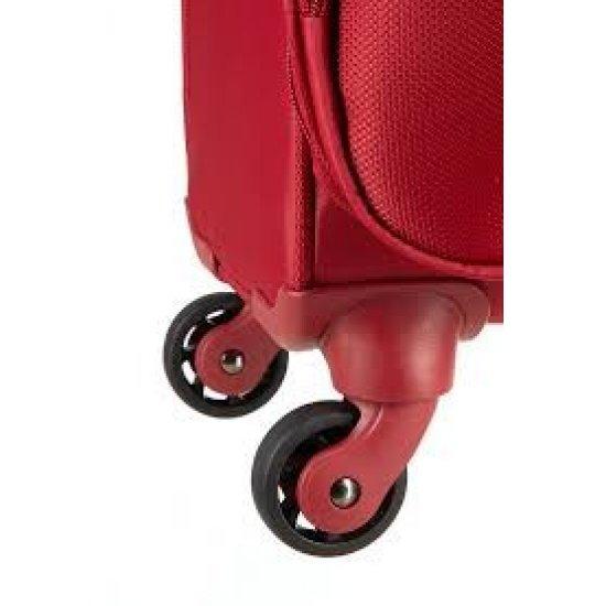 Мобилен офис на 4 колела за 16.4 инчов лаптоп B-Lite в червен цвят