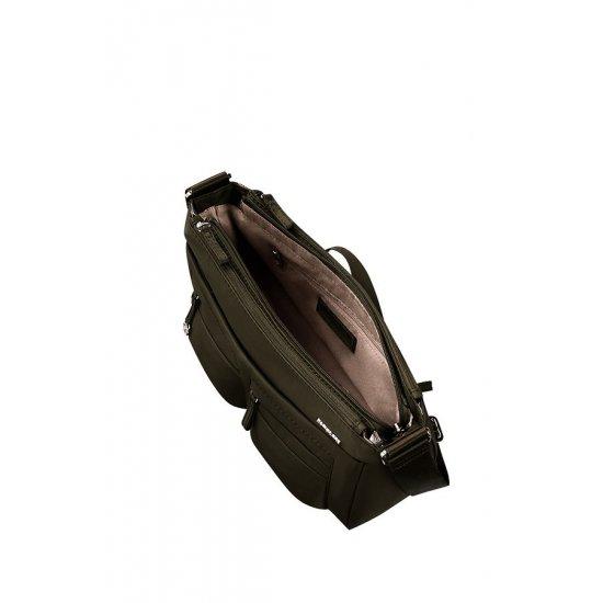 Move 2.0 Horizontal Shoulder Bag + Flap Silver Green