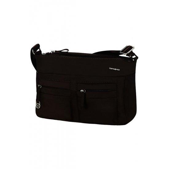 Move 2.0 Horizontal Shoulder Bag + Flap Dark Brown