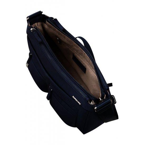 Move 2.0 Horizontal Shoulder Bag + Flap Dark Blue