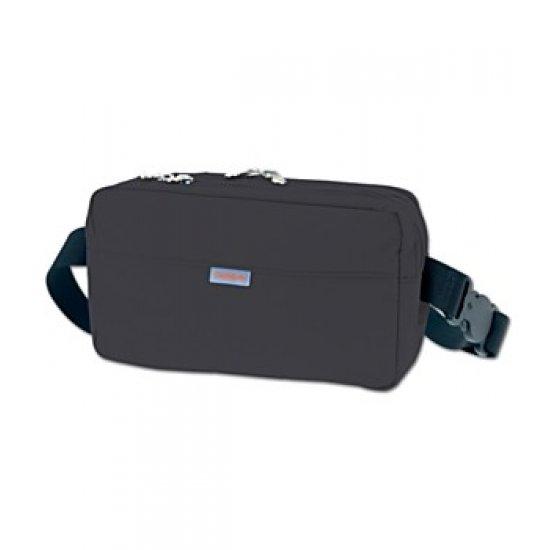 Олекотена удобна чантичка за през кръст черна