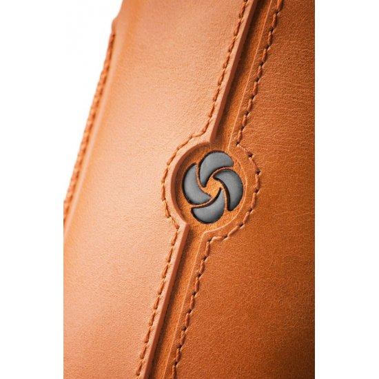 Orange case iPhone 5 made of Full leather size L Dezir Swirl