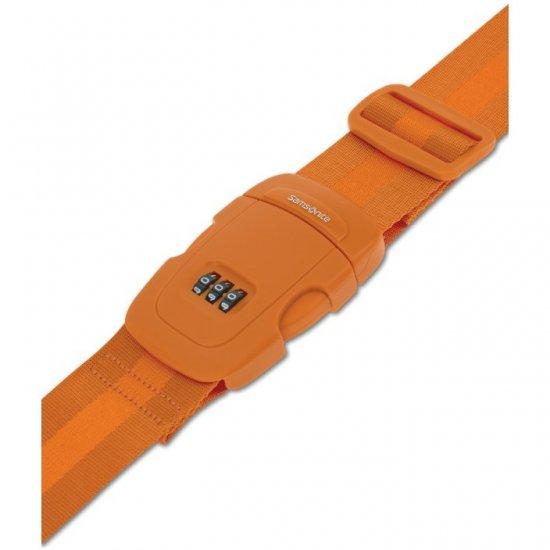 Оранжев колан за пристягане на багаж с трицифрен код