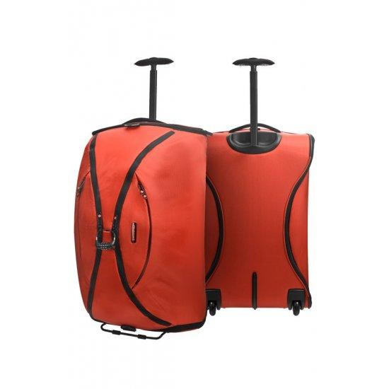 Orange duffle on wheels 63 cm Duo Plyer