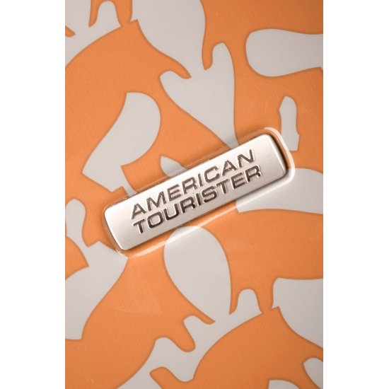 Оранжев спинер за ръчен багаж на 4 колелца American Tourister Jazz 55 см