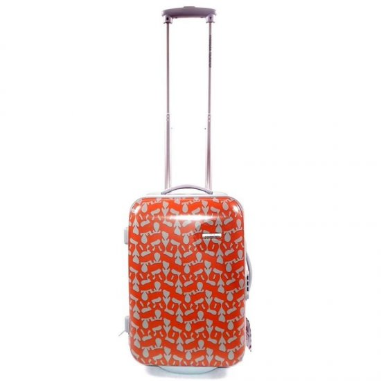 Оранжева количка за ръчен багаж на 2 колелца AT Jazz 55 см