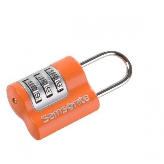 Оранжево катинарче за багаж с троен шифър