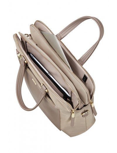 Organized Bailhandle 35.8cm/14.1″ Beige - Women's Business bags