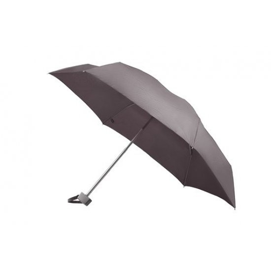 5 section manual folding umbrella metallic purple