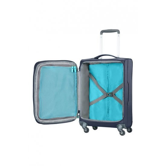 Herolite 4-wheel Spinner suitcase Expandable 55 cm Midnight Blue