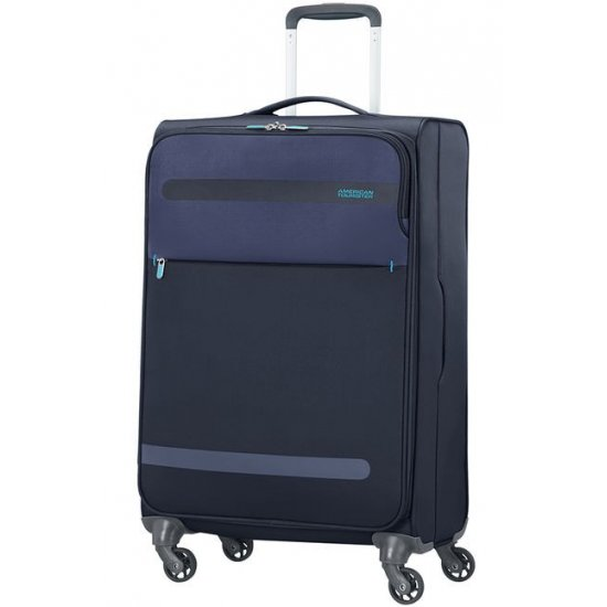 Herolite 4-wheel 67cm medium spinner suitcase Midnight Blue