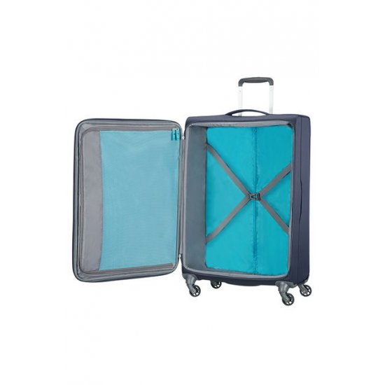 Herolite 4-wheel 74cm medium spinner suitcase Midnight Blue