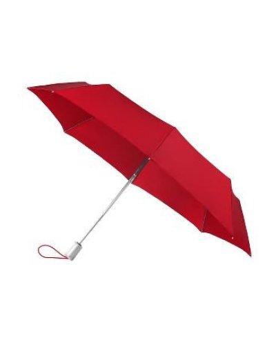 Тройно сгъваем автоматичен чадър  червен - Umbrellas