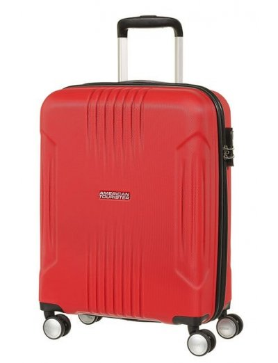 Tracklite 4-wheel Spinner suitcase 55cm Red - Hardside suitcases